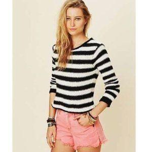 Free People | Beach Knit Stripe Sweater Small